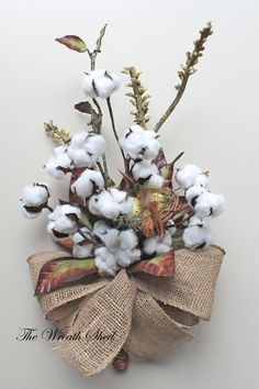 Cotton Boll Bouquet, Natural Cotton Bolls, Bird Nest, 2nd Anniversary Bouquet, Cotton Anniversary Gift, Cotton for 2nd Anniversary, Cotton