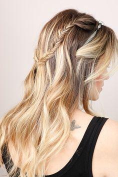 My Reign inspired hair dreams Summer Hairstyles, Pretty Hairstyles, Wedding Hairstyles, Ombré Hair, Hair Day, Hair Styles 2014, Long Hair Styles, Hair Heaven, Dream Hair
