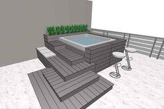 Hot Tub Garden, Hot Tub Backyard, Small Backyard Pools, Swimming Pools Backyard, Pool Landscaping, Lap Pools, Indoor Pools, Small Pools, Pool Decks