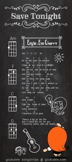 Eagle Eye Cherry - Save Tonight - UKULELE SONGSTRIP by Astriaha