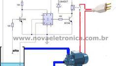 - Controle Automático de Bomba D'água. Este circuito é capaz de fazer a automação em reservatórios de água.