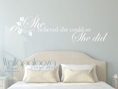 She believed she could so she did wall decal by WallapaloozaDecals