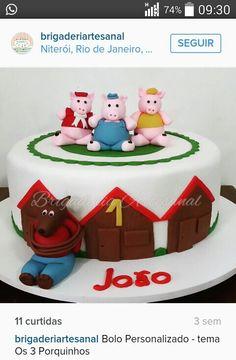 Os Três Porquinhos - Cake