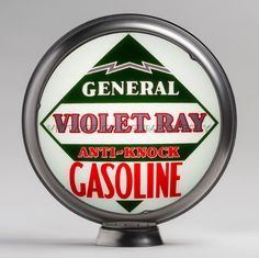 "General Violet Ray 15"" Limited Edition Gas Pump Globe (15.340)"