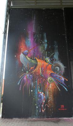 Global Street Art • Dope work by @ucon01 in Belgium...