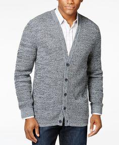 Tasso Elba Men's V-Neck Knit Cardigan, Only at Macy's