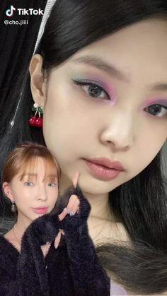 Asian Makeup Natural, Asian Eye Makeup, Edgy Makeup, Pink Makeup, Girls Makeup, Ulzzang Makeup Tutorial, Makeup Looks Tutorial, Asian Makeup Tutorials, Blank Pink
