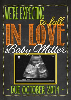 Fall Themed Pregnancy Announcement for Social by MMasonDesigns, $10.00