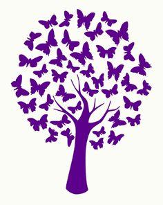 Sweet Poppy Stencil: Butterfly Tree : The Craft Station Ltd. Butterfly Stencil, Butterfly Tree, Butterflies, Butterfly Template, Purple Butterfly, Stencil Patterns, Stencil Art, Tree Stencil, Silhouette Portrait