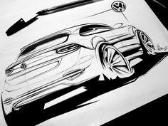 Volkswagen Sketch by Raquel Villani