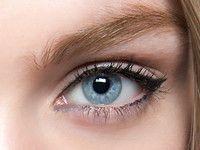 Mandelförmige Augen