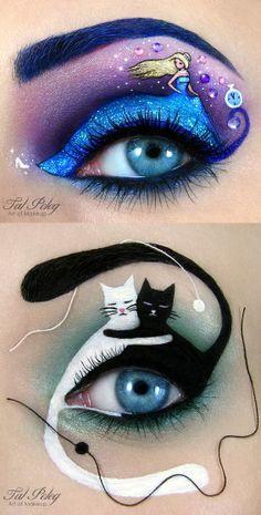 Amazing Eye Makeup Designs by Tal Peleg… I think this is the ultimate commitme Erstaunliche Augen-Make-up-Designs von Tal Peleg … Ich denke, das ist das ultimative Engagement … – Eye Makeup Designs, Eye Makeup Art, Eye Art, Eyeshadow Makeup, Beauty Makeup, Eyeliner, Makeup Ideas, Makeup Tips, Movie Makeup
