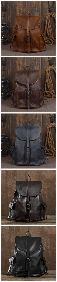Handmade Genuine Leather Backpack Travel Backpack School Backpack in Black 9017 . Handmade Genuine Leather Backpack Travel Backpack School Backpack in Black 9017 - Black Leather Backpack, Leather Bag, Leather Anniversary Gift, Photography Bags, Leather Gifts, Popular Bags, Vintage Bags, School Backpacks, Travel Backpack