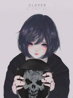 Pin by brave warrior on anime artwork in 2019 аниме арт, ани Emo Anime Girl, Dark Anime Girl, Manga Girl, Kawaii Cute, Kawaii Anime, Chibi, Psycho Girl, Real Anime, Familia Anime