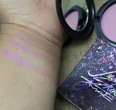 From the @maccosmetics #futureforward collection- MAC Justine Skye  Iridescent Powder. A beautiful medium toned lavender with pink notes and a shimmery finish. Thoughts? #presssample #macjustineskye    #maccosmetics #macaddict #justineskye #beauty #beautyguru #beautytips #highlightonfleek #highlighter #purple