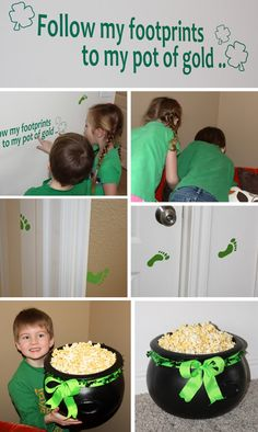 pot of gold hunt for kids | , you could use popcorn in your pot of gold instead of chocolate gold ...