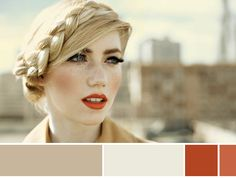 I love this color palette and her hair. It looks like an old-fashioned hat at first.