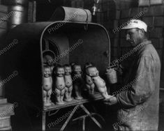 Toy Doll Maker Viintage 8x10 Reprint Of Old Photo
