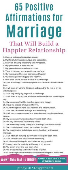 65 Positive Affirmations for Marriage That Will Build a Happier Relationship - Beziehungen Healthy Marriage, Marriage Advice, Love And Marriage, Dating Advice, Marriage Romance, Healthy Relationship Tips, Relationship Challenge, Strong Marriage, Marriage Relationship