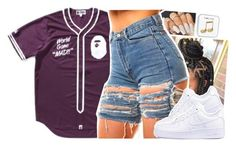 """."" by xxsaraxtaraxx ❤ liked on Polyvore featuring NIKE and Happy Plugs"