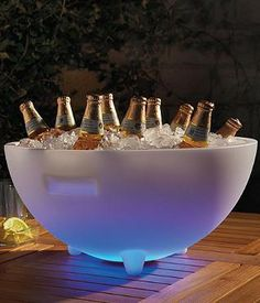 The perfect piece for when summer pool parties carry on well into the evening, our Lighted Beverage Tub is made for outdoor entertaining.