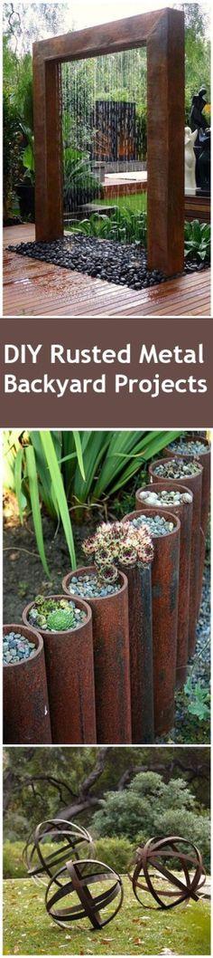 DIY Rustic Metal Backyard Ideas