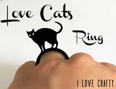 Love Cats Ring Large. £6.00, via Etsy.