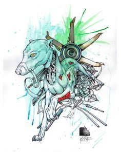 "Greyhound ""Animal series"" 1 of 5 - mixed media art Medium Art, Mixed Media Art, Traditional, Gallery, Artist, Animals, Roof Rack, Artists, Mixed Media"