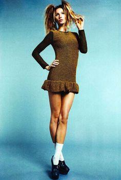 schoolgirl fashion editorial | Super Model Gisele Bundchen Cover iD Magazine
