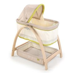 Shop for Summer Infant Bentwood Bassinet with Motion Bear Buddies. Get free delivery On EVERYTHING* Overstock - Your Online Baby Furniture Shop! Wood Bassinet, Best Bassinet, Hanging Bassinet, Bedside Bassinet, Bassinet Cover, Large Storage Baskets, Thing 1, Baby List, Small Baby