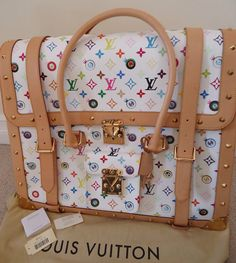 Rare Murakami Louis Vuitton Suitcase and other Louis Vuitton Suitcases filled with bath and body works, and breast cancer pendant by KavalonThatsMe, $2870.00