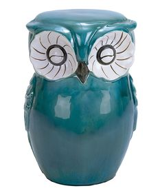 This Teal Owl Garden Stool by UMA Enterprises is perfect! #zulilyfinds