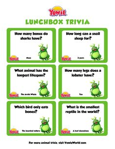 Fun Animal Trivia Questions for Kids - Yowie World