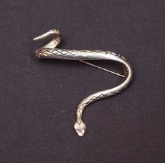 Vintage Sterling Silver Diamond Back Rattlesnake Snake Pin Brooch