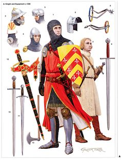 Knight and Equipment 1330