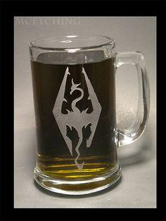 The Glass Geek. • 15 oz Skyrim mug.