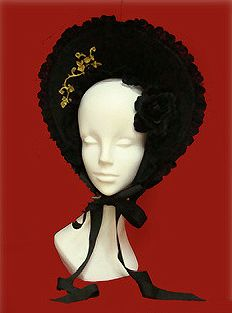 Alice & the Pirates » Headwear » Versailles Rose Embroidery Half Bonnet
