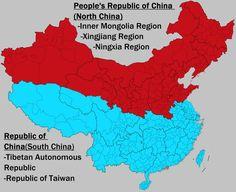 Chinese Civil War - Alt end by on DeviantArt Alternate Worlds, Alternate History, Oroville Washington, Imaginary Maps, China Map, Fantasy Map, Fantasy Setting, Historical Maps, Art History