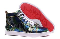 Christian Louboutin Colorful Snakeskin High Sneakers