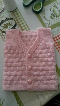 knitted baby cardigan with poc Baby Knitting Patterns, Knitting For Kids, Easy Knitting, Crochet For Kids, Knitting Designs, Knitting Stitches, Baby Patterns, Knit Crochet, Cardigan Bebe