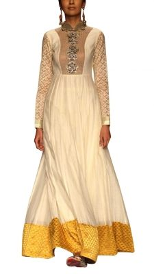 Sanea Long Anarkali Suit   Strandofsilk.com - Indian Designers