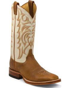 Justin Cognac Delta Cowboy Boots