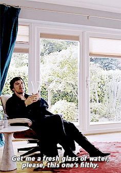 Sherlock - The Lying Detective. And the therapist just does she doesn't like react really in any way