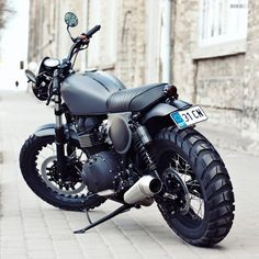 Bonneville T100 by Renard | Bike EXIF  High-end builder Renard Motorcycles delivers the motorcycling equivalent of a stealth bomber. Is this Estonian-built Triumph the ultimate Bonneville T100 custom?