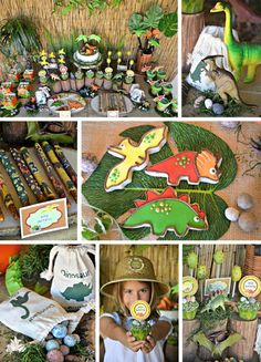 Dinosaur Adventure Party from Crissy's Crafts! #parties #dinosaurparty
