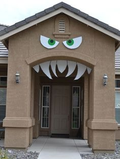 decoración halloween para la puerta