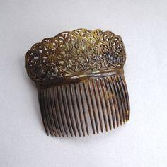 Vintage Filigree Faux Tortoise Mantilla Hair Comb | eBay