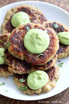 Traditional Irish potato pancake known as boxty, made eggless and vegan. Serve with avocado basil garlic ranch dressing. Vegan Soyfree Recipe | http://VeganRicha.com