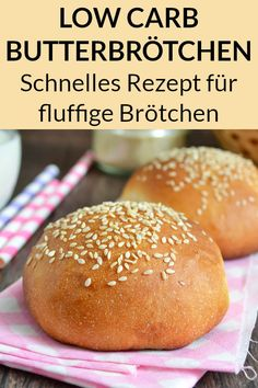 Low Carb Brötchen zum Abnehmen - Gesundes Essen - These low carb rolls with curd cheese and cream cheese are super tasty and perfect for losing weight. Healthy Dessert Recipes, Keto Snacks, Low Carb Recipes, Healthy Snacks, Health Desserts, Healthy Eating Tips, Healthy Nutrition, Clean Eating, Low Carb Bun