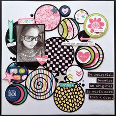 #papercraft #scrapbook #layout  All Girl